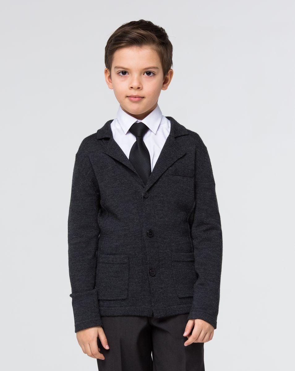Кардиган для мальчика Silver Spoon, цвет: темно-серый меланж. SSFSB-627-15038-804. Размер 158