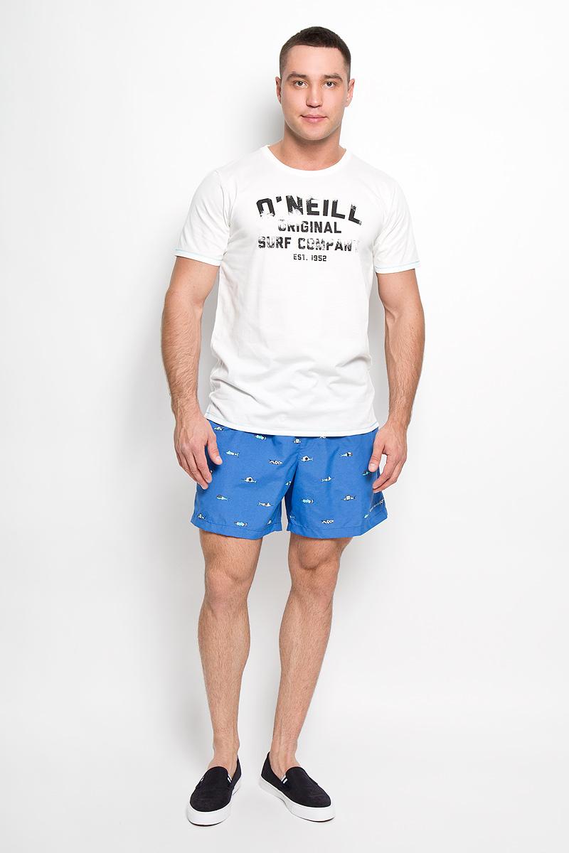 Футболка мужская ONeill, цвет: молочный. 601710-1031. Размер XL (52)601710-1031Стильная мужская футболка ONeill, выполненная из высококачественного полиэстера с добавлением хлопка, обладает высокой воздухопроницаемостью и гигроскопичностью, позволяет коже дышать. Такая футболка великолепно подойдет как для повседневной носки, так и для спортивных занятий, она быстро сохнет и отводит влагу от тела, позволяя коже оставаться сухой.Модель с короткими рукавами и круглым вырезом горловины - идеальный вариант для создания модного современного образа. Футболка оформлена принтом с логотипом ONeill.Такая модель подарит вам комфорт в течение всего дня и послужит замечательным дополнением к вашему гардеробу.