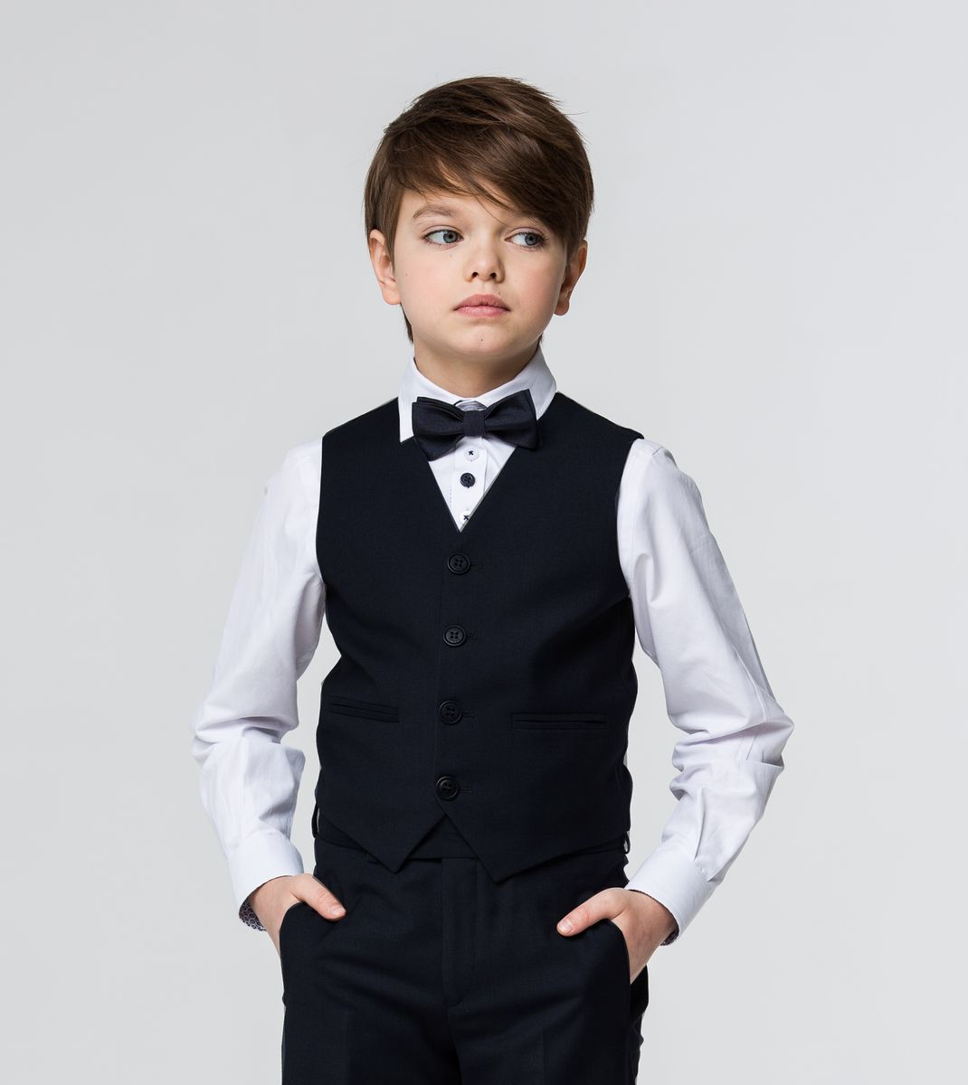 Жилет для мальчика Silver Spoon, цвет: темно-синий. SSFSB-629-13303-313. Размер 164