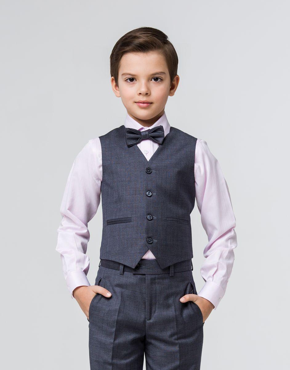Жилет для мальчика Silver Spoon, цвет: серый. SSFSB-629-13303-809. Размер 146 брюки для девочки silver spoon casual цвет сиреневый scfsg 629 26001 412 мод f2 001 размер 146