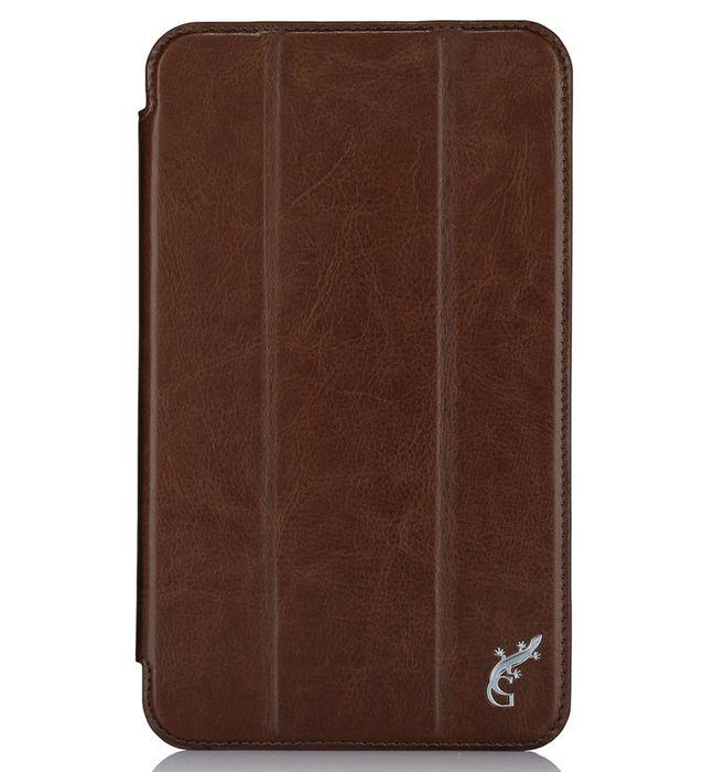 G-case Slim Premium чехол для Samsung Galaxy Tab A 7.0, BrownGG-725Чехол G-Case Slim Premium для Samsung Galaxy Tab A 7.0 - это стильный и лаконичный аксессуар, позволяющий сохранить устройство в идеальном состоянии. Надежно удерживая технику, обложка защищает корпус и дисплей от появления царапин, налипания пыли. Имеет свободный доступ ко всем разъемам устройства.