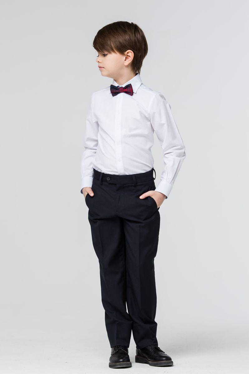 Брюки для мальчика Silver Spoon, цвет: темно-синий. SSFSB-629-16002-313. Размер 134 брюки для девочки silver spoon casual цвет сиреневый scfsg 629 26001 412 мод f2 001 размер 146