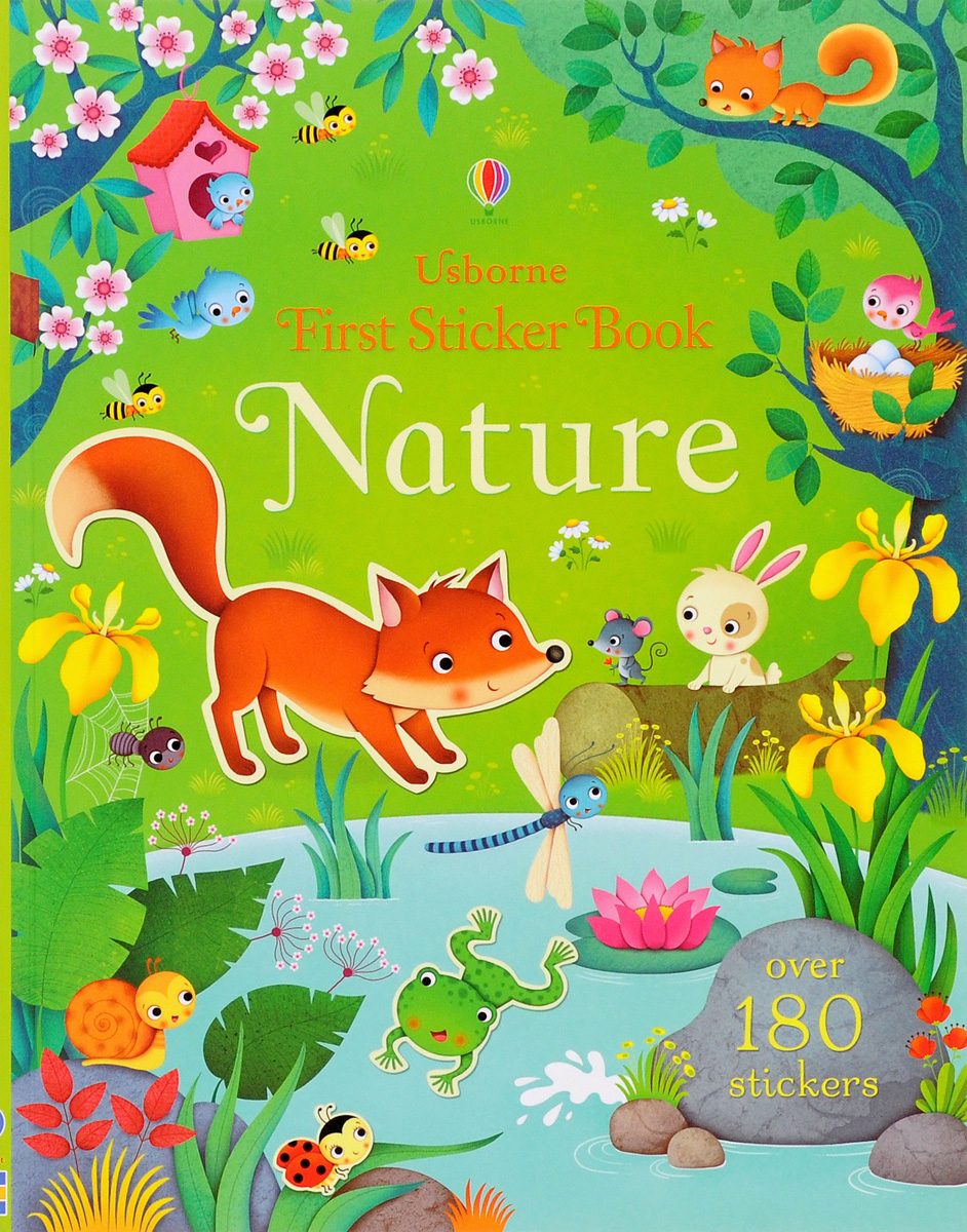 First Sticker Book Nature (180 stickers) bugs sticker book 400 reusable stickers