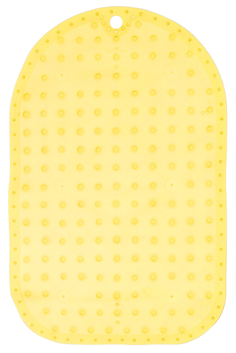 BabyOno Коврик противоскользящий для ванной цвет желтый 55 х 35 см1345_желтыйКоврик противоскользящий для ванной BabyOno предназначен для детских ванночек, ванн и душевых кабин. Имеет присоски, исключающие перемещение коврика по поверхности.Для правильного закрепления коврика следует сначала наполнить ванну водой, а затем вложить коврик и равномерно прижать с каждой стороны.Во время купания ребенок должен находиться под постоянным присмотром взрослого. Перед первым и после каждого купания коврик следует промыть в теплой воде с добавлением детского мыла, ополоснуть и высушить. Изделие не является игрушкой. Хранить в месте, недоступном для детей. Не содержит фталатов.Товар сертифицирован.