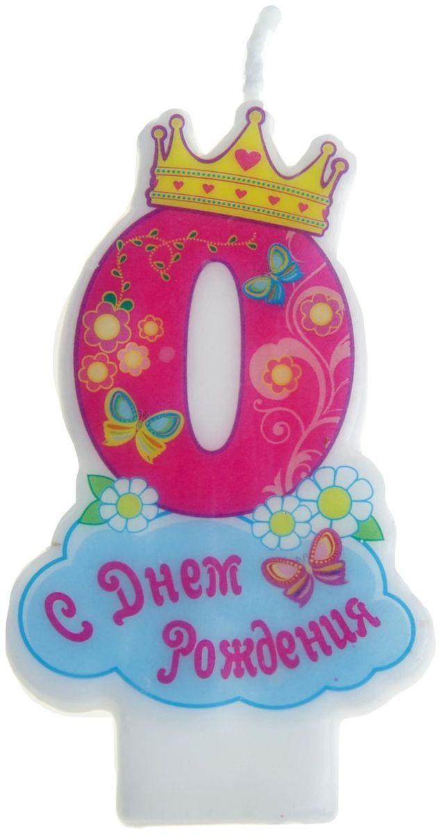 Sima-land Свеча для торта Цифра 0 Корона