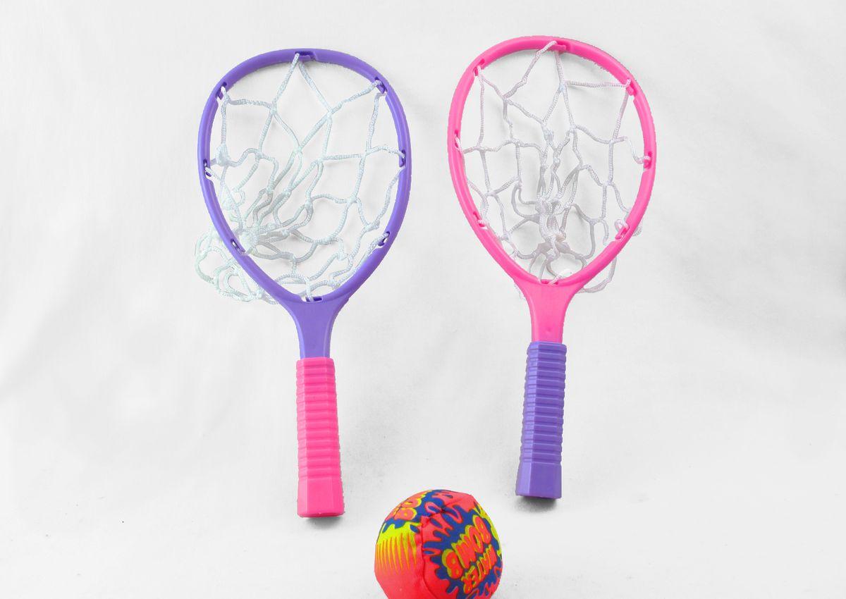 Набор для игры в бичбол King Sport, цвет: розовый, фиолетовый. TX64807 smoby детская горка king size цвет красный