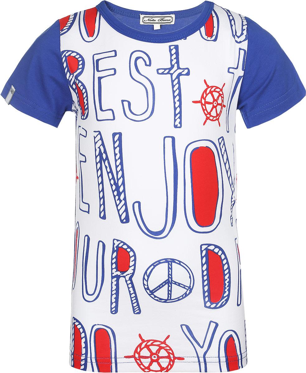 Футболка для мальчика Nota Bene, цвет: синий, белый, красный. SS161B301-29. Размер 104 платье tutto bene tutto bene tu009ewzwn18