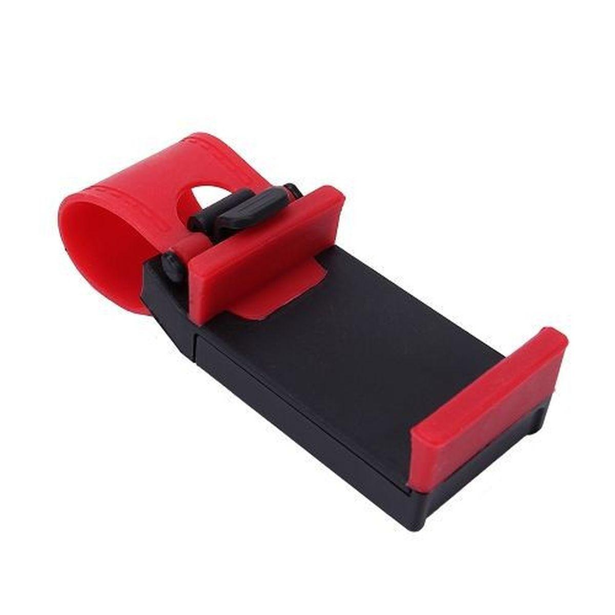 Держатель автомобильный Оранжевый слоник, для телефона, цвет: красныйACL0002RДержатель устанавливается на автомобильный руль при помощи ремня, выполненного из термопластичной резины. Держатель изготовлен из высококачественного ABS пластика. Ударопрочная противоскользящая конструкция гарантирует удобство пользования и сохранность вашего устройства.Максимальное расширение зажима: 7,5 см.
