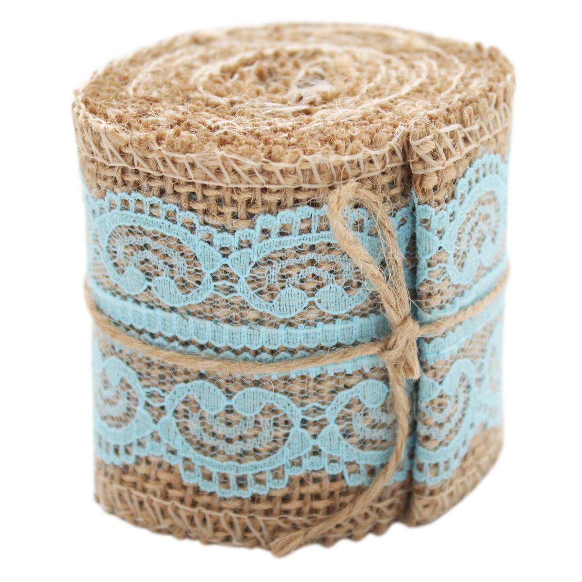 Полоска из декоративной тканиБэстекс, длина: 2 м, цвет: голубой. 580803_Н-10580803_Н-10 голубЛьняная лента в сочетании с кружевом идеально подойдет для украшения альбомов, книг, а также послужит прекрасным элементом декора при изготовлении флористических композиций