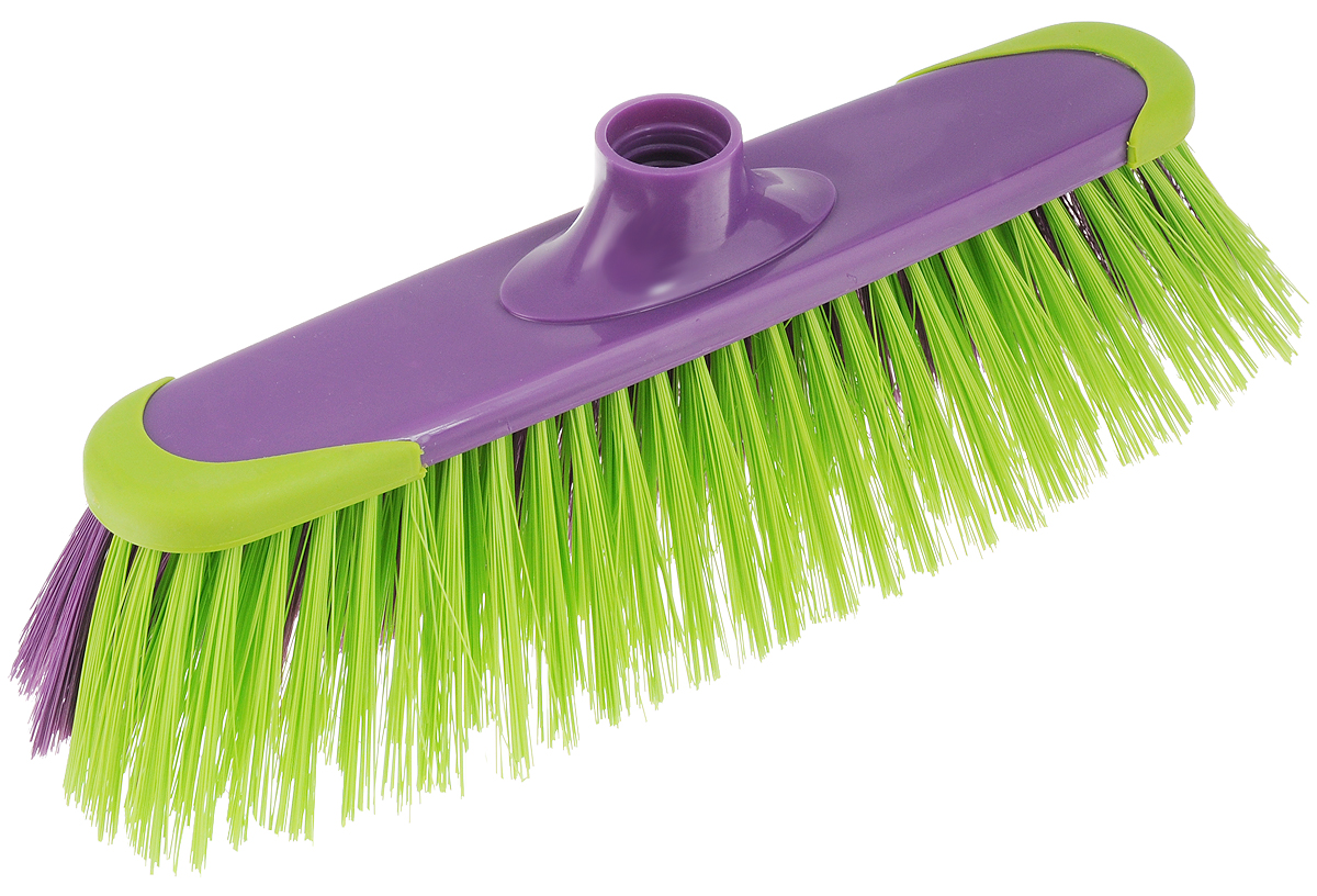 Щетка York Prestige, без ручки, цвет: фиолетовый, зеленый. 50175017_фиолетовый, зеленыйЩетка York Prestige изготовлена из пластика и предназначена для уборки сухого мусора. Щетка оснащена универсальной резьбой, которая подходит ко всем видам ручек. Ворс щетки двухцветный: с одной стороны - мягкий, с другой - жесткий.Такая щетка позволит качественно и быстро собрать мусор.Размер щетки: 31 см х 9 см.Длина ворса: 6 см.Диаметр отверстия под ручку: 2,4 см.