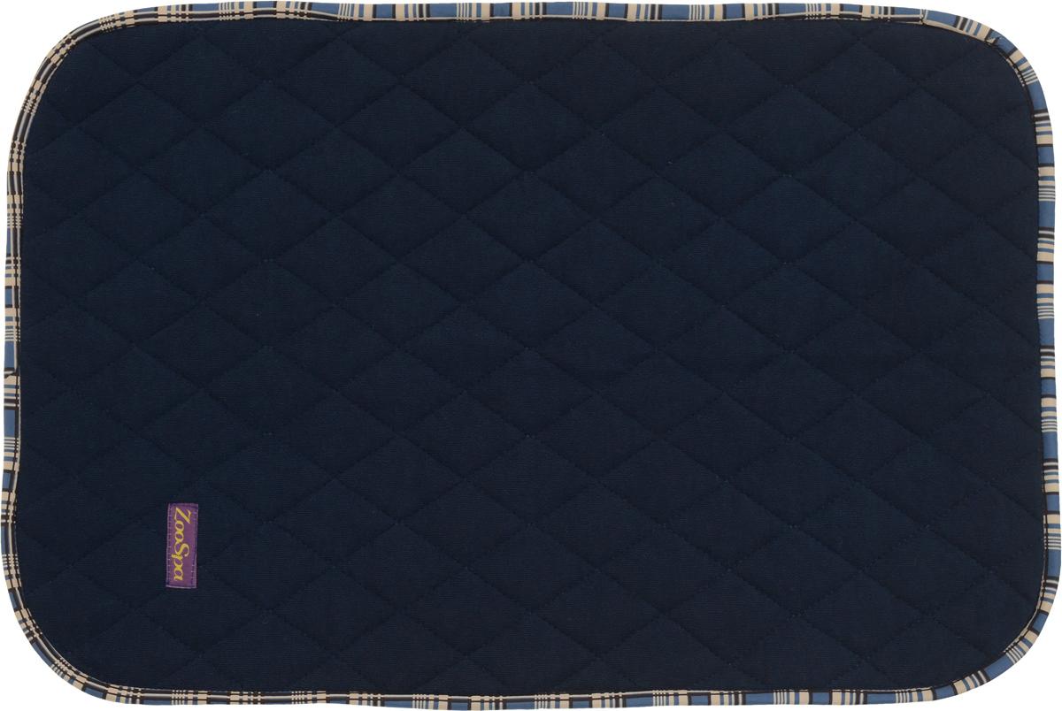 Пеленка впитывающая для животных  ZooSpa , многоразовая, 5-ти слойная, цвет: темно-синий, 60 x 90 см - Средства для ухода и гигиены