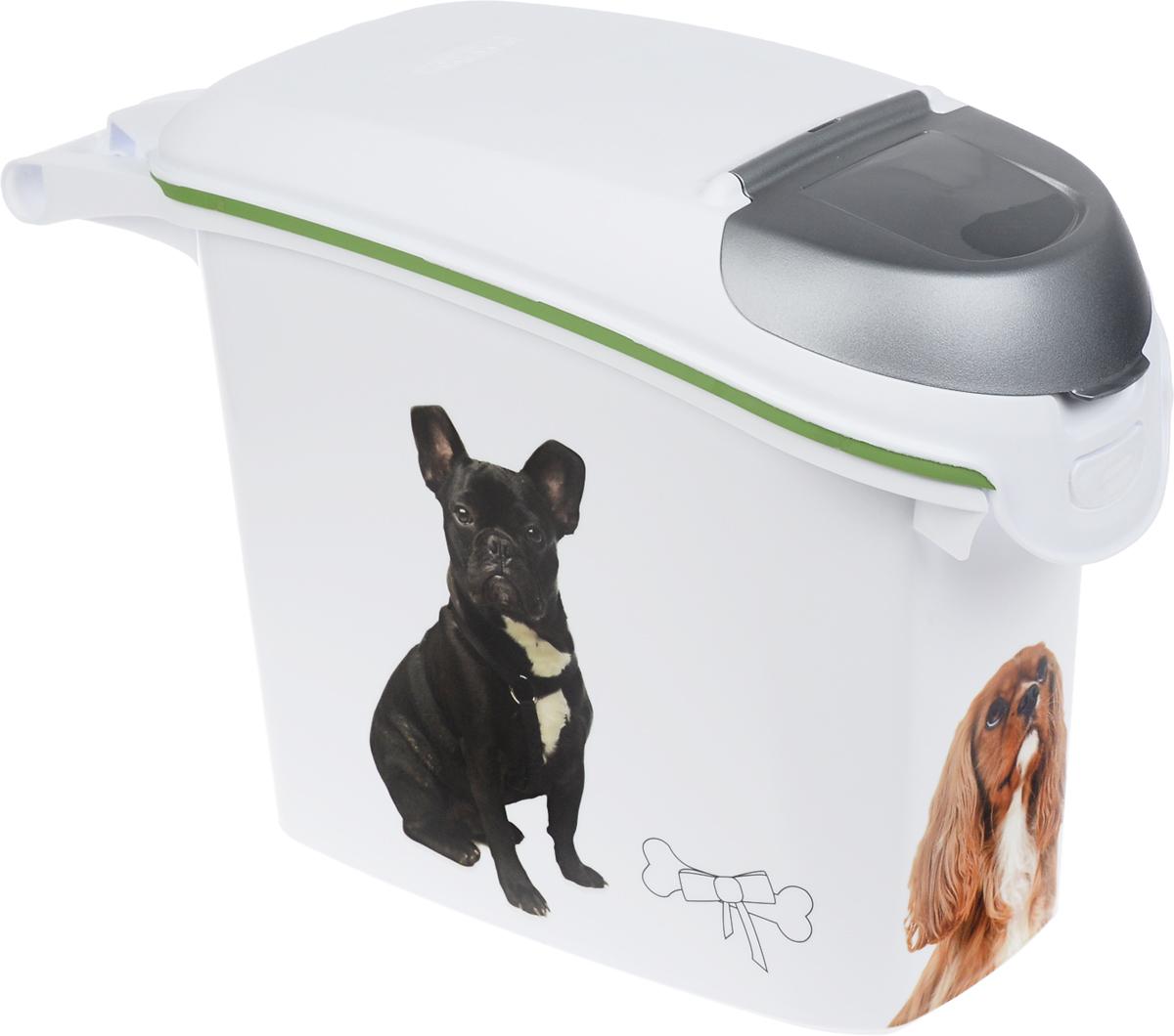 коробка для хранения curver usa flag 39 см х 29 23 см Контейнер Curver Petlife. Веселые щенята, для хранения для сухого корма, 15 л