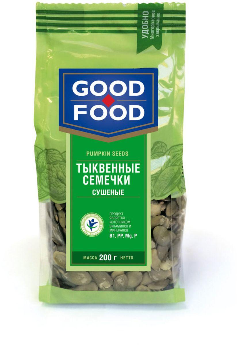 Good Foodтыквенныесемечкисушеные,200г4620000677215Ядра семян тыквы, одного вида, однородные по величине и форме.