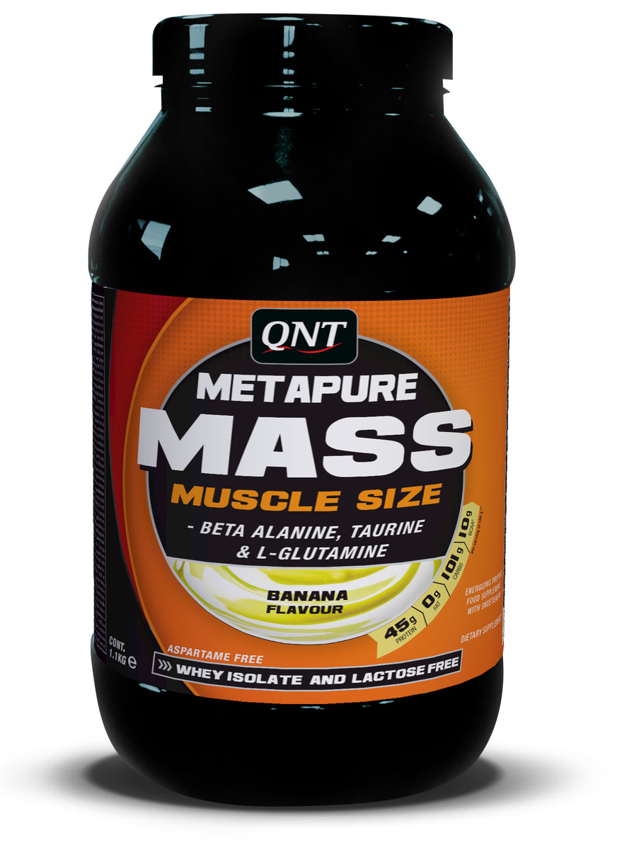 Гейнер QNT Metapure Mass+, вкус: банан, 1,1 кг