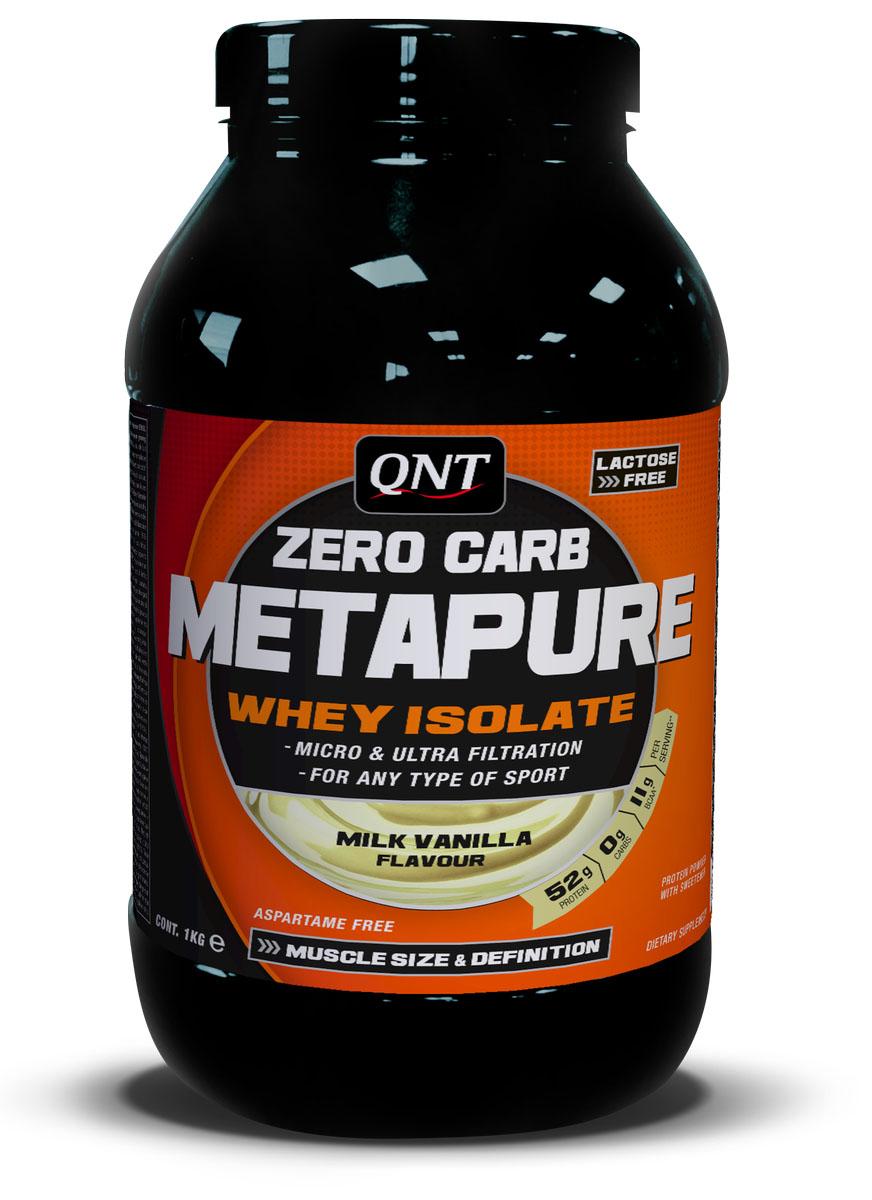 Изолят QNT  METAPURE ZERO CARB , вкус: молоко, ваниль, 1кг - Протеины