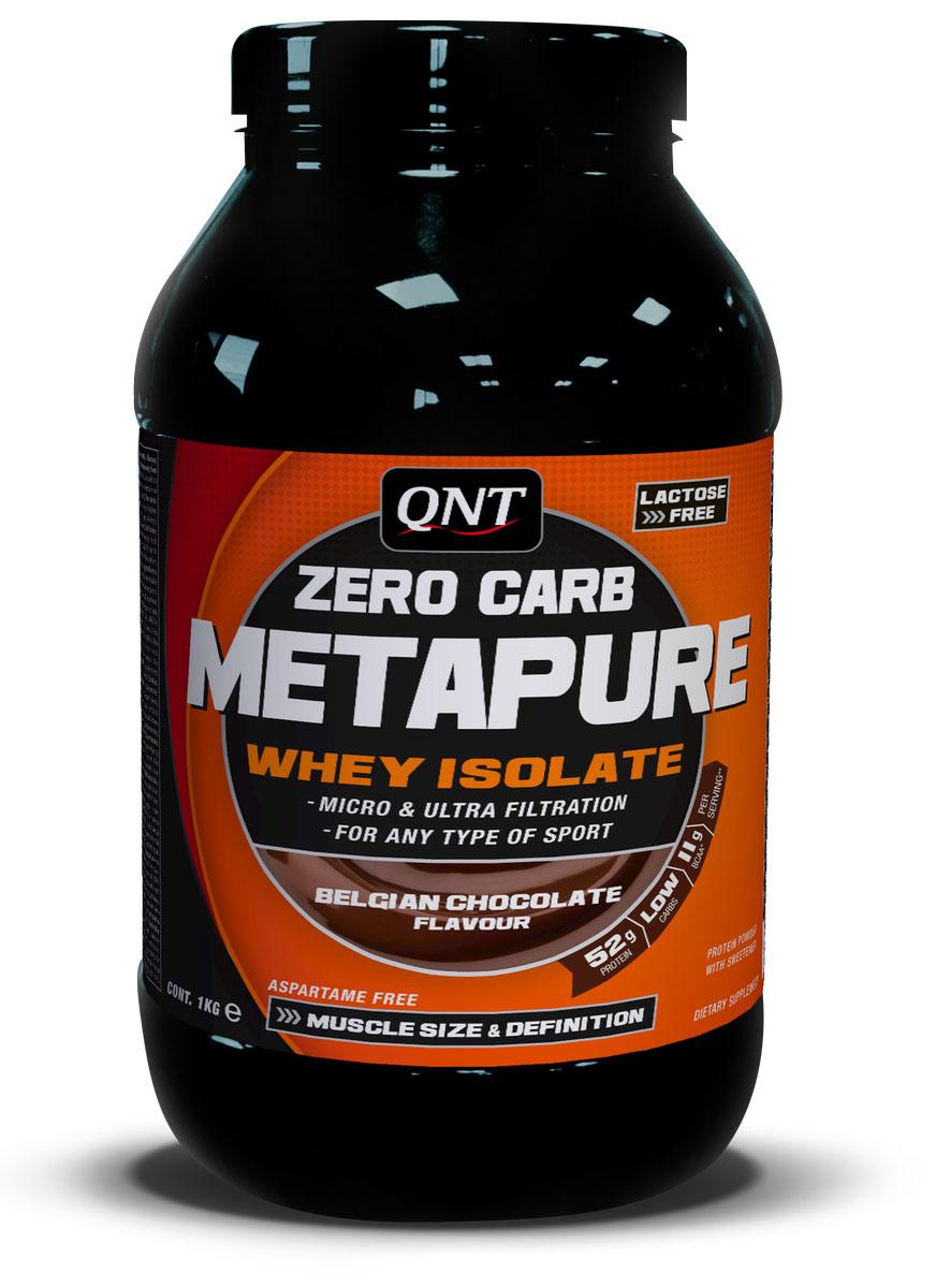 Изолят QNT METAPURE ZERO CARB, вкус: шоколад, 2кгNB01095Metapure Zero Carb изготовлен из изолята сывороточного протеина, самой чистой формы протеина существующей на рынке. Изолят состоит из простых аминокислот и из большого количества аминокислот с разветвленными боковыми цепями (ВСАА). Они являются наиболее важными для восстановления и роста мышц.QNT Metapure Zero Carb быстро и полностью растворяется в воде, без образования комочков или осадка. Это чистейший изолят без жиров, холестерина, лактозы и углеводов. Metapure Zero Carb абсорбируется и усваивается организмом быстрее любой белковой формулы.Whey Protein Isolate (Milk, Traces Of Soya), Flavour, Sweetener E955. Allergen Information: Milk, Traces Of SoyaКак повысить эффективность тренировок с помощью спортивного питания? Статья OZON Гид