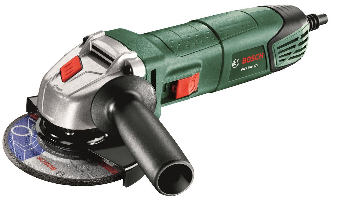 Шлифмашина угловая Bosch PWS 700-125. 06033A2023 bosch pws 850 125 06033a2704