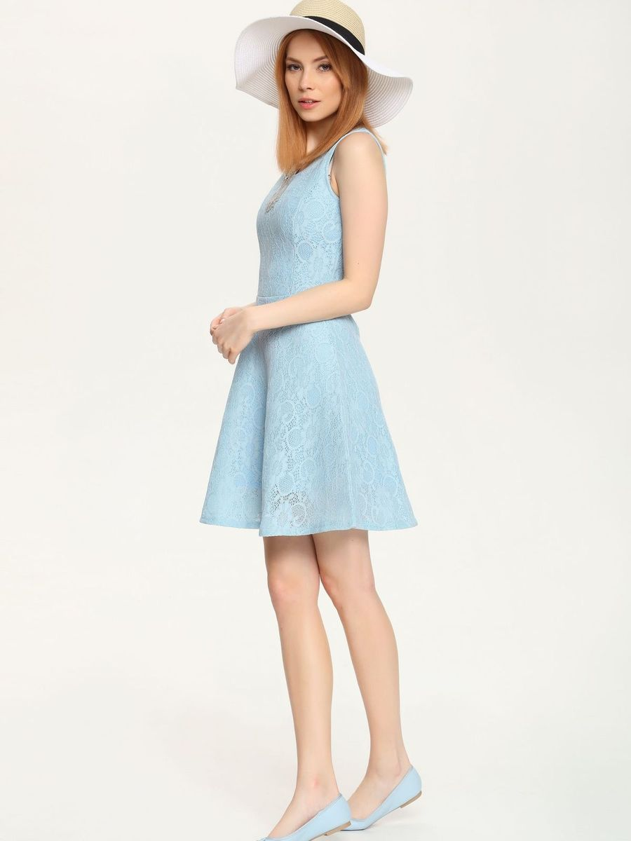 Платье Troll, цвет: серо-голубой. TSU0527NI. Размер XL (50) комбинезон женский troll цвет черный tkb0023ca размер xl 50