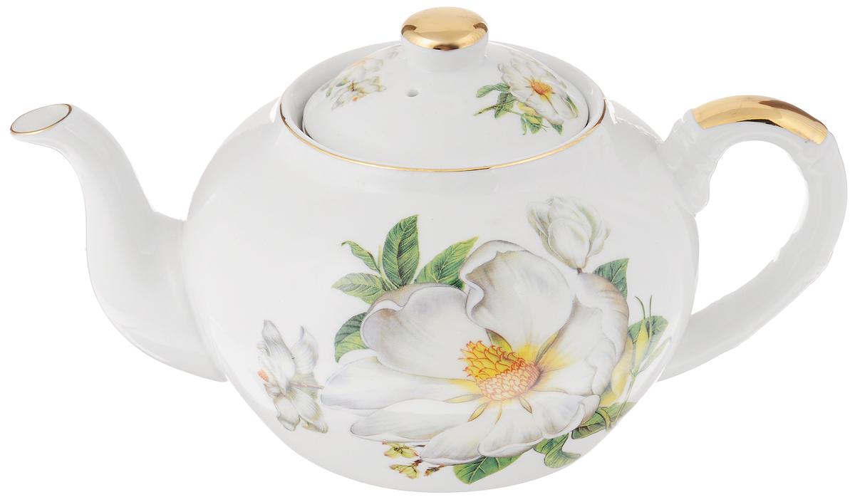 Чайник заварочный Loraine Пионы, 1 л21125Заварочный чайникLoraine Пионы изготовлен из высококачественной керамики. Посудаоформлена ярким рисунком. Такой чайник идеально подойдет для заваривания чая. Он хорошо держит температуру, что способствует более полному раскрытию цвета, аромата и вкуса чайного букета. Чайник оснащен сетчатым фильтром, который задерживает чаинки и предотвращает их попадание в чашку.Изделие прекрасно дополнит сервировку стола к чаепитию и станет его неизменным атрибутом.Диаметр (по верхнему краю): 6,5 см. Диаметр основания: 9 см.Высота чайника (без учета крышки): 10,5 см.