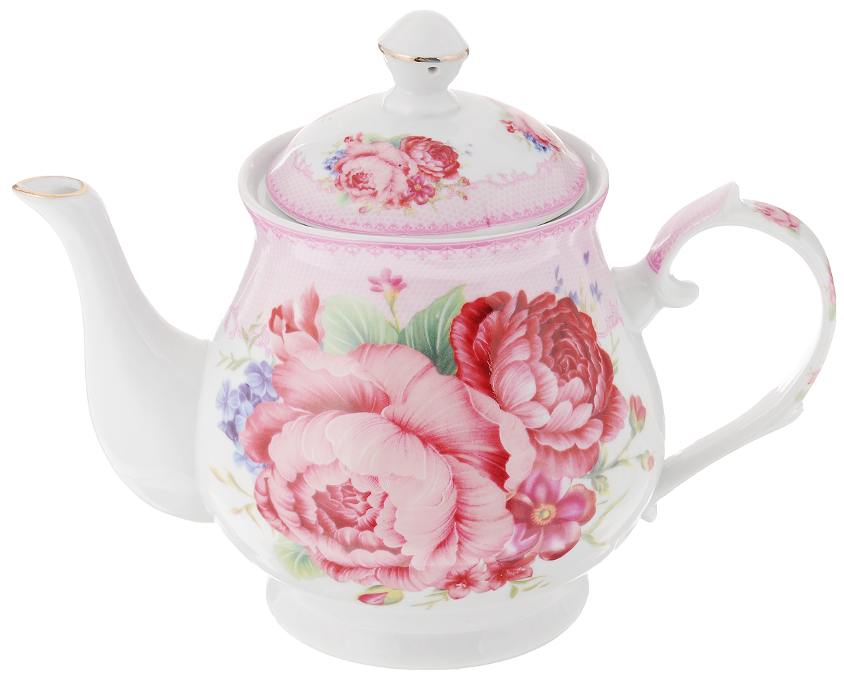 Чайник заварочный Loraine Цветочная фантазия, 800 мл24577Заварочный чайник Loraine Цветочная фантазия изготовлен из высококачественной керамики. Посудаоформлена ярким рисунком. Такой чайник идеально подойдет для заваривания чая. Он хорошо держит температуру, что способствует более полному раскрытию цвета, аромата и вкуса чайного букета. Чайник оснащен сетчатым фильтром, который задерживает чаинки и предотвращает их попадание в чашку.Изделие прекрасно дополнит сервировку стола к чаепитию и станет его неизменным атрибутом.Диаметр (по верхнему краю): 6,5 см. Диаметр основания: 8 см.Высота чайника (без учета крышки): 12 см.