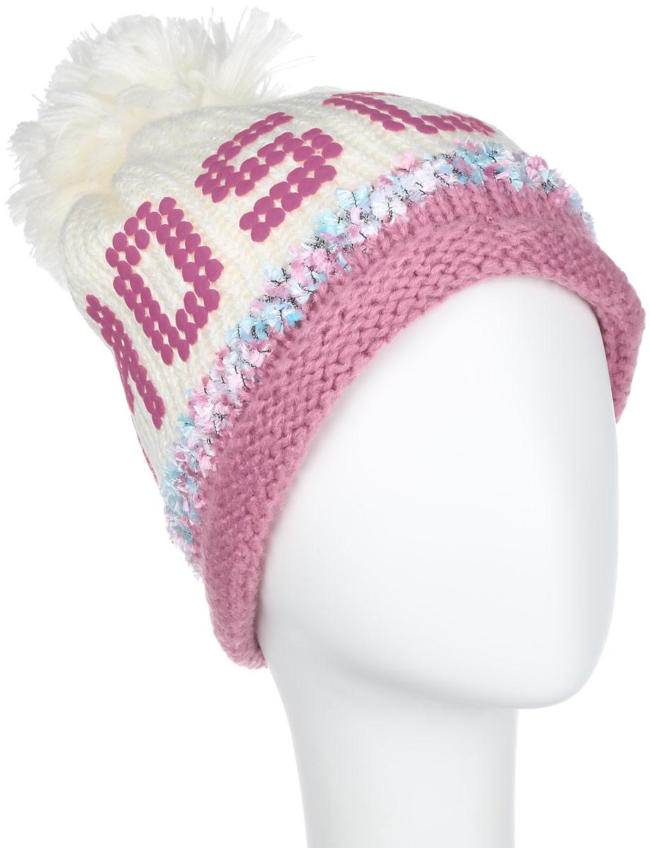 Шапка женская Robin Ruth Moscow, цвет: белый, розовый. KMOS002-A. Размер универсальныйKMOS002-AШапка Robin Ruth выполнена из акрила, сохраняющего тепло. Внешняя сторона - вязаное полотно, подкладка - мягкий флис. Шапка очень практична - она плотно прилегает к голове, благодаря чему тепло и комфорт вам обеспечены даже в самую ветреную погоду.Шапка оформлена помпоном и декорирована надписью Moscow. Такая шапка идеальная для активного отдыха - стильный дизайн подчеркнет вашу индивидуальность, а современные материалы защитят от непогоды.