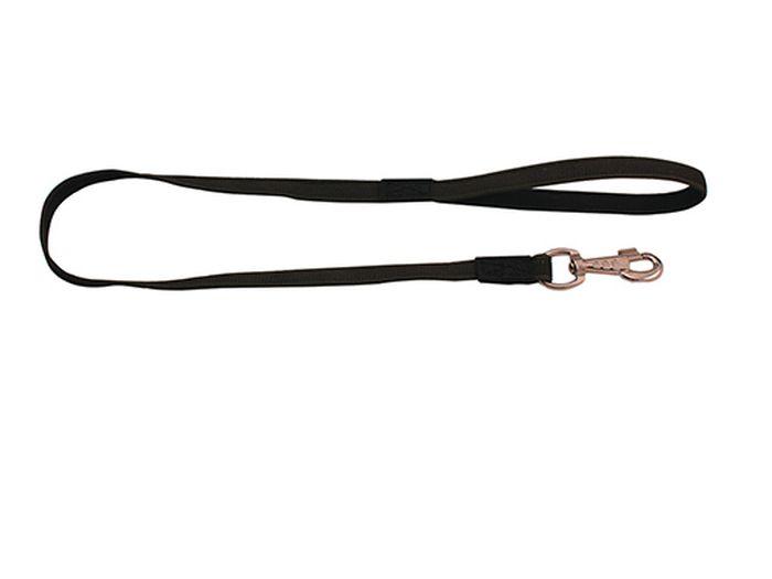 Поводок для собак Каскад Классика, двухсторонний, со стальным карабином, ширина 2 см, длина 1,2 м
