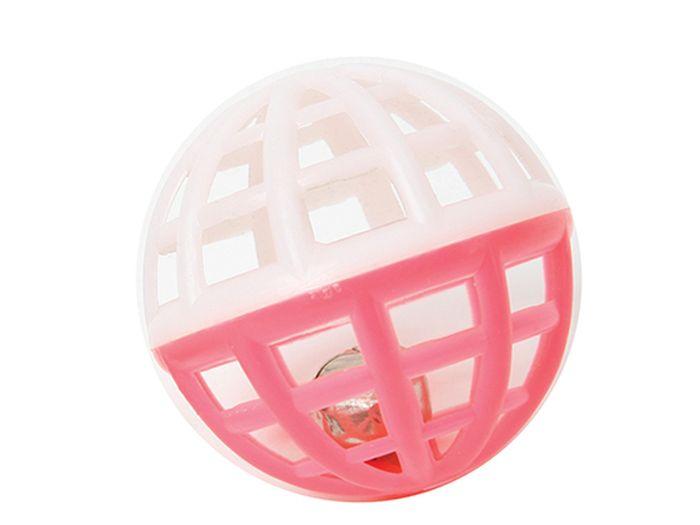 Игрушка для животных Каскад Мяч, сетчатый, с колокольчиком, диаметр 4 см игрушка для животных каскад удочка с микки маусом 47 см