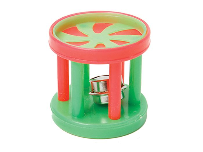 Игрушка для животных Каскад Барабан с колокольчиком, 4 х 4 х 4 см игрушка для животных каскад гамбургер диаметр 7 5 см