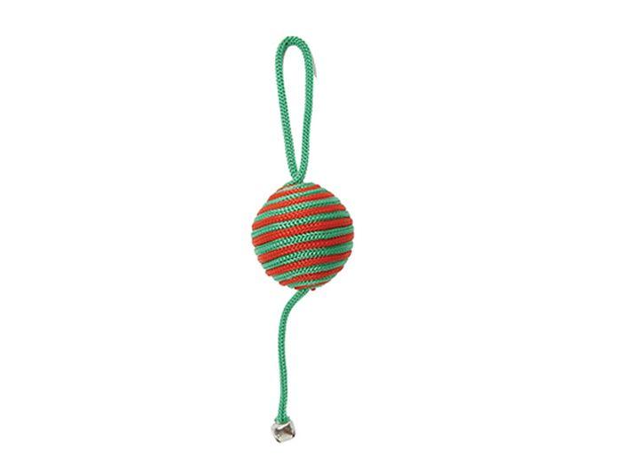 Игрушка для животных Каскад Когтеточка-мяч с бубенчиком, 5 см игрушка для животных каскад удочка с микки маусом 47 см