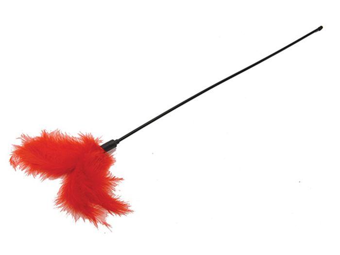 Игрушка для животных Каскад Удочка-дразнилка, с перьями, длина 47 см игрушка для животных каскад удочка с микки маусом 47 см