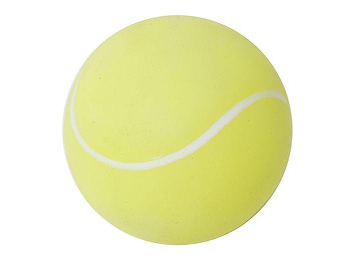 Игрушка для животных Каскад Мячик теннисный, цвет: желтый, белый, диаметр 7 см игрушка для животных каскад мячик пробковый диаметр 3 5 см