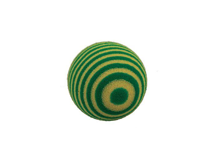 Игрушка для животных Каскад Мячик пробковый, цвет: зеленый, 3,5 см игрушка для животных каскад удочка с микки маусом 47 см
