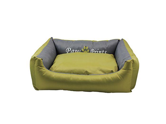 Лежак для животных Каскад Монако. №3, цвет: салатовый, серый, 65 х 51 х 14 см игрушка для животных каскад мячик пробковый цвет зеленый 3 5 см