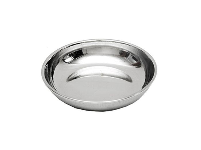 Блюдце для животных Каскад, нержавеющая сталь, диаметр 15 см игрушка для животных каскад мячик пробковый диаметр 3 5 см
