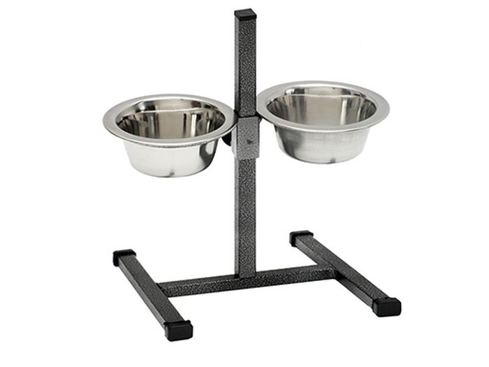 Фото - Подставка для мисок для животных Каскад Квадрат, с мисками, объем 0,5 л trixie стойка с мисками trixie для собак 2х1 8 л