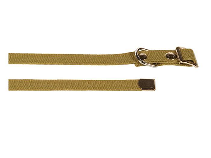 """Ошейник брезентовый Каскад """"Классика"""", для собак, цвет: светло-зеленый, ширина 2,5 см, обхват шеи 15-50 см"""