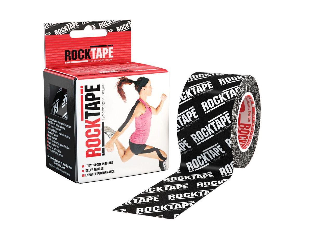 """Кинезиотейп Rocktape """"Classic"""", цвет: черный, белый, 5 x 500 см"""