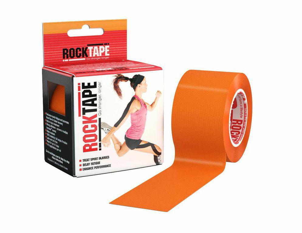 """Кинезиотейп Rocktape """"Classic"""", цвет: оранжевый, 5 x 500 см"""