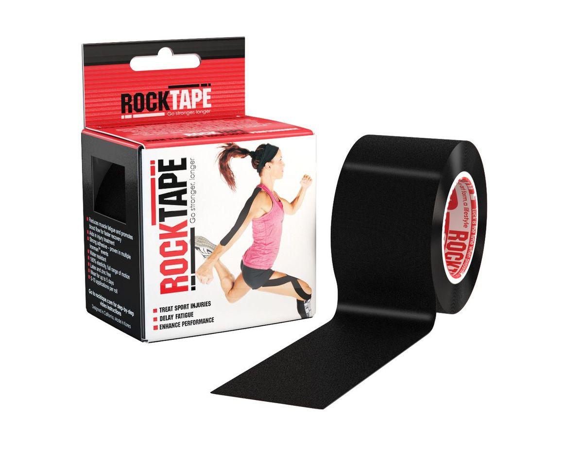 """Кинезиотейп Rocktape """"Classic"""", цвет: черный, 5 x 500 см"""