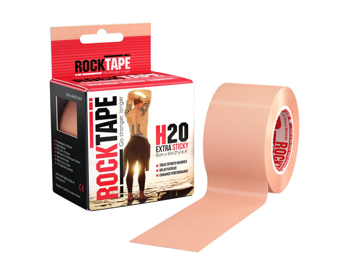"""Кинезиотейп Rocktape """"H2O"""", цвет: телесный, 5 х 500 см"""