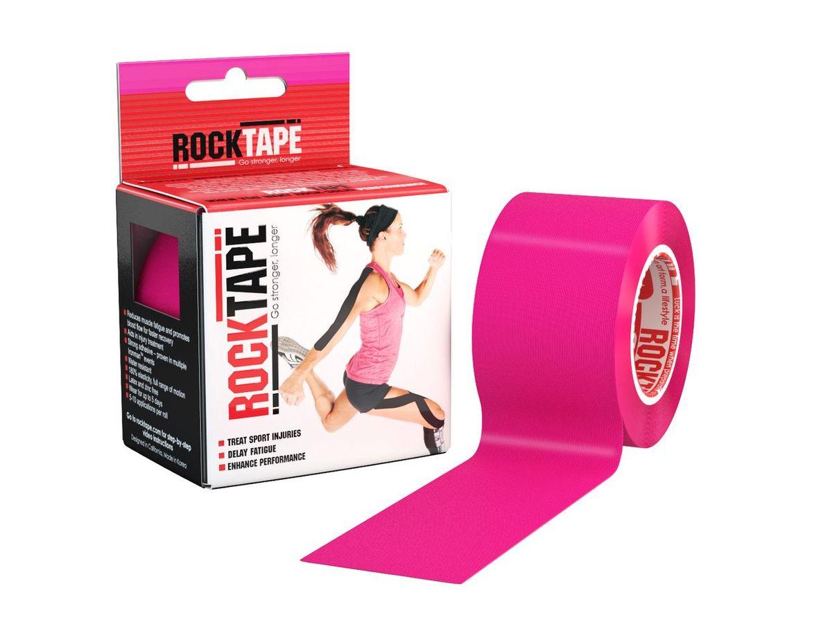 """Кинезиотейп Rocktape """"Classic"""", цвет: розовый, 5 x 500 см"""