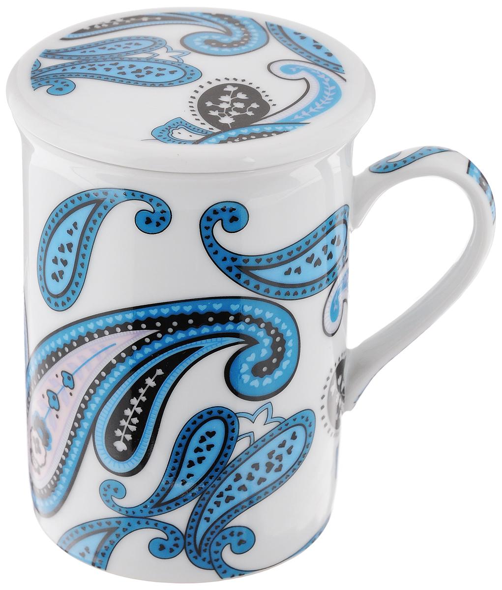 Кружка заварочная LarangE Ампир, цвет: белый, голубой, синий, 330 мл. 586-31586-313_белый,голубой,синийЗаварочная кружка LarangE Ампир изготовлена из высококачественного фарфора.Внешние стенки оформлены изысканным рисунком. Изделие оснащено съемнымметаллическим фильтром и фарфоровой крышкой. Заварочная кружка поможет быстро и вкусно заварить чай на одну порцию, не используязаварочный чайник.Такой набор станет хорошим подарком, а также придаст кухонному интерьеруособый колорит.Объем кружки: 330 мл. Диаметр кружки (по верхнему краю): 7,5 см.Высота стенки кружки: 10,5 см.Глубина ситечка: 5 см.Не рекомендуется применять абразивные моющие средства.