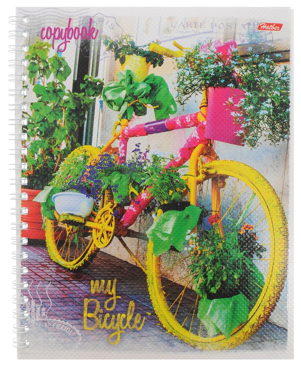 Hatber Тетрадь Лето на велосипеде 48 листов в линейку цвет желтый розовый48Т5тВ2гр_желтый,розовыйТетрадь Hatber Лето на велосипеде отлично подойдет для занятий школьнику, студенту или для различных записей.Обложка, выполненная из плотного картона, позволит сохранить тетрадь в аккуратном состоянии на протяжении всего времени использования. Лицевая сторона оформлена красочным изображением в виде яркого велосипеда.Внутренний блок тетради, соединенный металлическим гребнем, состоит из 48 листов белой бумаги в голубую линейку с полями.
