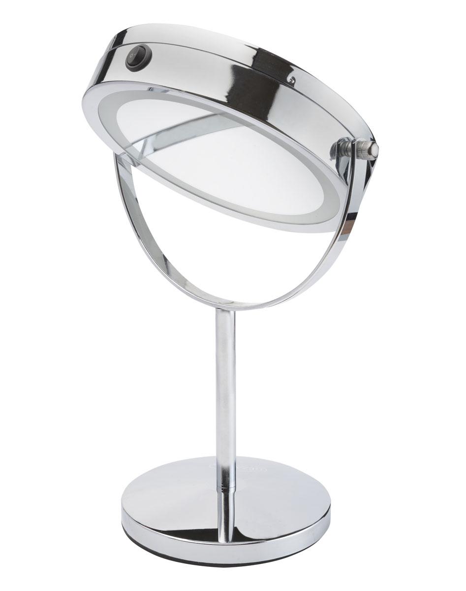 Gezatone Косметическое зеркало с подсветкой LM1941301165Уход за лицом, шеей и декольте, регулярные косметические процедуры невозможны без качественного зеркала. Стоит заказать косметическое зеркало с подсветкой Gezatone lm194, чтобы превратить уход за собой в удовольствие. Двухсторонняя зеркальная поверхность, круговая подсветка и стильный дизайн делают это зеркало незаменимым аксессуаром и отличным подарком. Батареи ААА