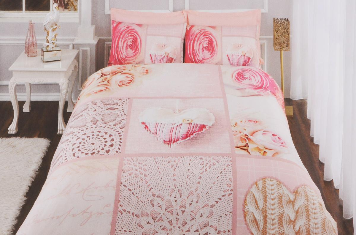 Комплект белья TAC Rosebud, 2-спальный, наволочки 50 х 70 см3484Роскошный комплект постельного белья TAC Rosebud выполнен из качественного плотного сатина и декорирован красочным принтом. Комплект состоит из пододеяльника, простыни и четырех наволочек. Пододеяльник застегивается на пуговицы.Сатин - гладкая и прочная ткань, которая своим блеском, легкостью и гладкостью похожа на шелк, но выгодно отличается от него в цене. Сатин практически не мнется, поэтому его можно не гладить. Ко всему прочему, он весьма практичен, так как хорошо переносит множественные стирки.Доверьте заботу о качестве вашего сна высококачественному натуральному материалу.