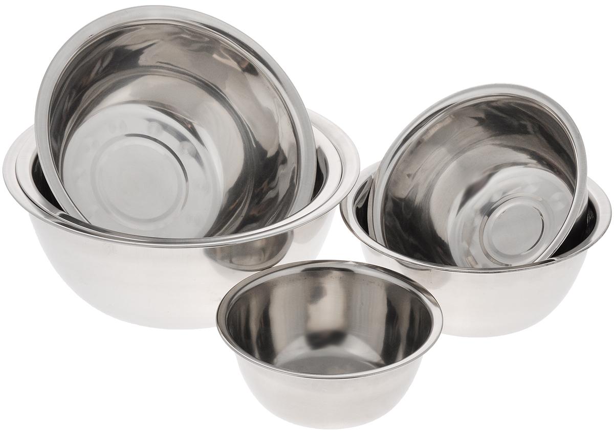 """Набор """"Mayer & Boch"""" состоит из шести мисок разного  размера, выполненных из нержавеющей стали с зеркальным покрытием. Они являются универсальным  приобретением для любой кухни. С их помощью можно  готовить блюда, хранить продукты и даже сервировать стол.   Высокое качество и функциональность набора """"Mayer & Boch"""" позволят ему стать достойным  дополнением к вашему кухонному инвентарю.  Можно мыть в посудомоечной машине. Диаметр мисок (по верхнему краю): 14 см, 16 см, 18 см, 20 см, 24 см.  Высота стенок мисок: 6 см, 7 см, 7,5 см, 8 см, 8,5 см, 9 см. Объем мисок: 540 мл, 820 мл, 1,2 л, 1,6 л, 2,1 л, 2,7 л."""