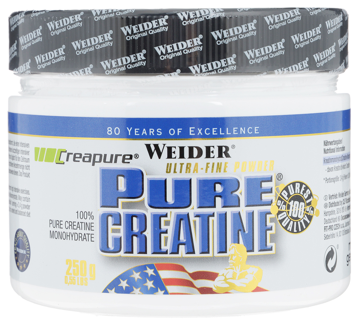 Креатин моногидрат Weider  Pure Creatine , 250 г - Креатин