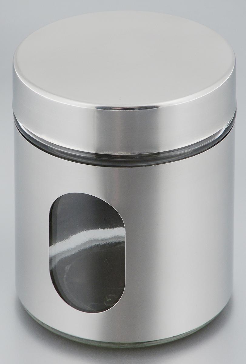 Банка для сыпучих продуктов Zeller, 500 мл19945Банка для продуктов Zeller предназначена для хранения кофе, чая, сахара, круп и других сыпучих продуктов. Банка выполнена из стекла и антикоррозийной стали. Изделие оснащено удобной, плотно закрывающейся крышкой, которая не пропускает запахи и позволяет дольше сохранять аромат продуктов. Банка снабжена прозрачным окошком. Благодаря антистатической поверхности, содержимое контейнера не прилипает к стеклянному окошку, поэтому вы всегда можете видеть, что и в каком количестве содержится в банке.