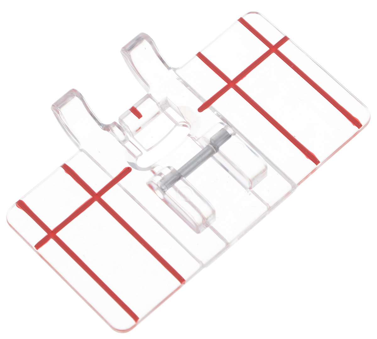 Лапка для швейной машины Aurora, с разметкой, для параллельных швовAU-150Лапка для швейной машины Aurora используется для прокладывания параллельных декоративных строчек. Подходит для большинства современных бытовых швейных машин. Инструкция по использованию прилагается.