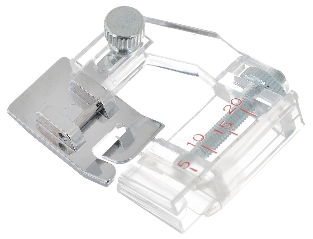 Лапка для швейной машины Aurora, для косой бейки, с линейкойAU-114Лапка для швейной машины Aurora используется для выполнения прямой строчки параллельно краю материала, а также для обработки изделия косой бейкой шириной до 40 мм. Лапка оснащена линейкой с миллиметровыми делениями. Подходит для большинства современных бытовых швейных машин. Инструкция по использованию прилагается.